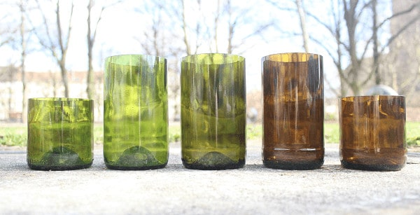 Help Boost Eco-glassware Business Half-glassed Accessories Recycled Glass