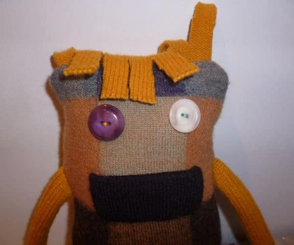 Monster Stuffie Using Ugly Vintage Wool Sweater Clothing Do-It-Yourself Ideas