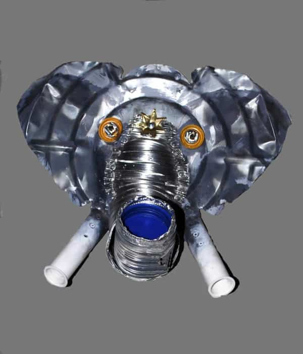 Elephant Mask Recycled Art Recycling Metal