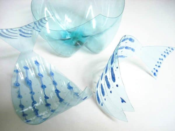Fish Made from Pet Bottles Recycled Art Recycled Plastic