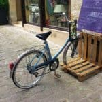 Pallet Bicycle Stand