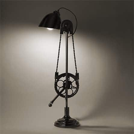 Bicycle Desk Lamp Lamps & Lights Upcycled Bicycle Parts