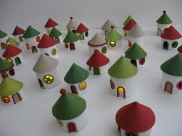 Christmas village from toilet paper rolls recyclart christmas village from toilet paper rolls do it yourself ideas recycled cardboard solutioingenieria Choice Image