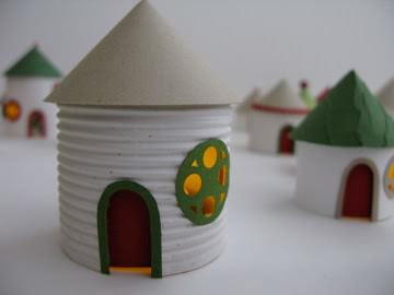 Christmas village from toilet paper rolls recyclart img1844 solutioingenieria Images