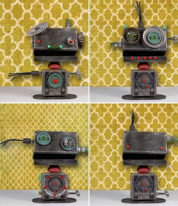 Magnobots – Interactive Robot Assemblage Sculptures Recycled Art