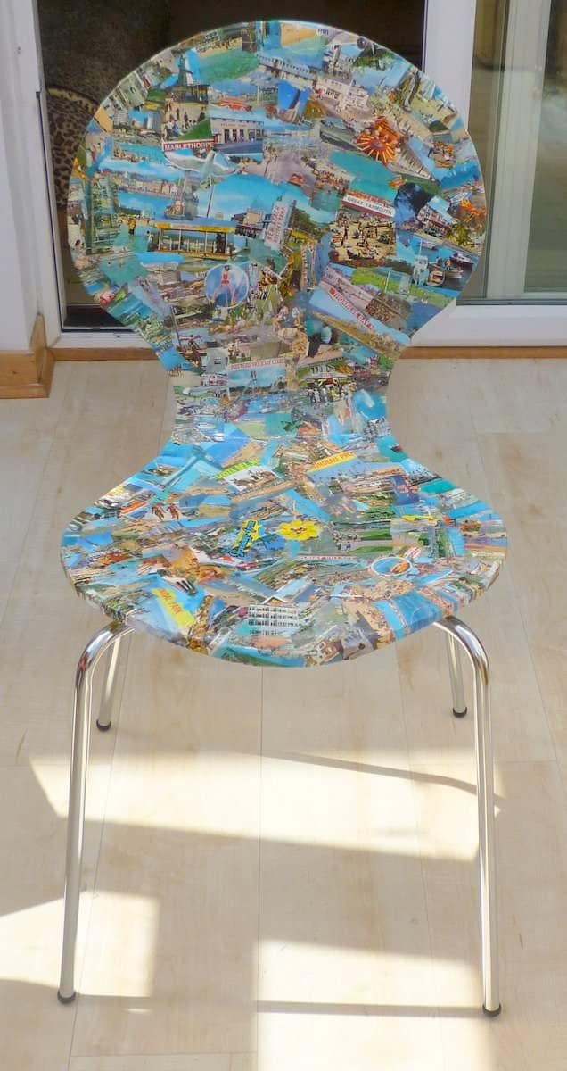 Upcycled postcard chairs recyclart solutioingenieria