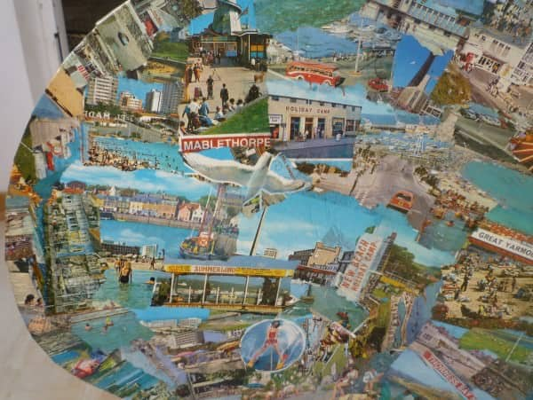 Upcycled Postcard Chairs Do-It-Yourself Ideas Recycled Furniture