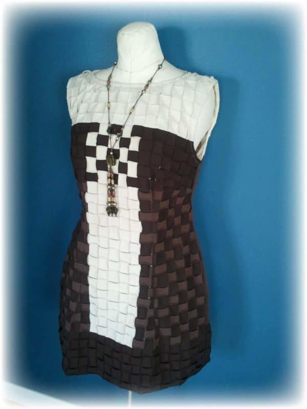 Upcycled Basket Weave – T-shirt Party Dress Clothing Do-It-Yourself Ideas