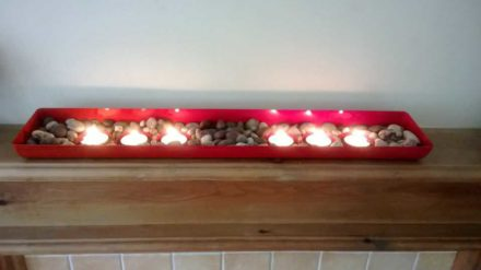 Oven Front Candle Holder