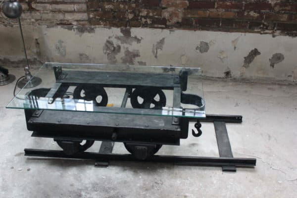 Mine Wagon Repurposed for a Coffee Table Mechanic & Friends Recycled Furniture Recycling Metal