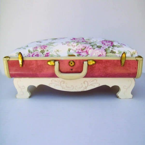 Suitcase Pet Beds Made from Vintage Suitcases Recycled Furniture