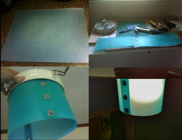 Ceiling Light Shade from Plastic Kitchen Chopping Mats Do-It-Yourself Ideas Lamps & Lights