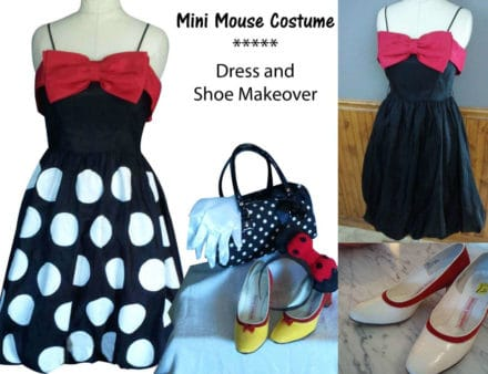 Upcycled Mini Mouse Costume - Tips for DIY