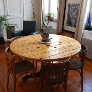 Reel dining table / Table Touret