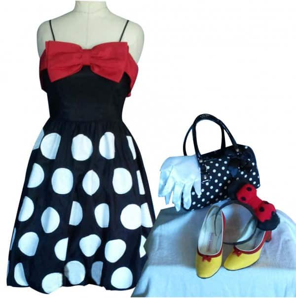 Upcycled mini mouse costume tips for diy recyclart mini mouse costume solutioingenieria Choice Image