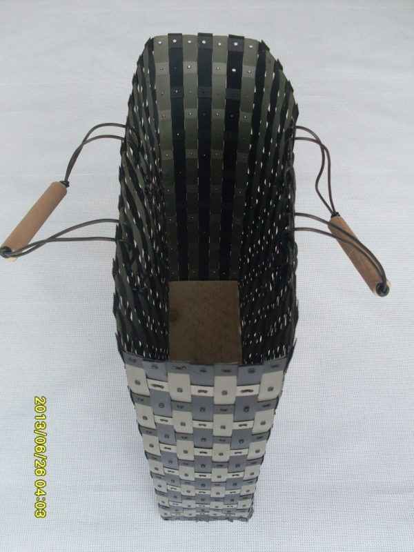 Baskets Made from Waste Polypropylene Strapping Tapes Recycled Plastic