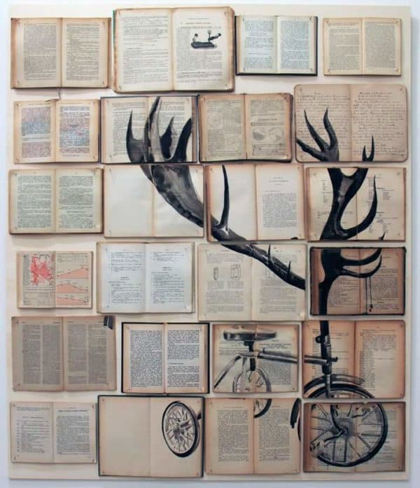 Work on Books by Ekaterina Panikanova Recycled Art Recycling Paper & Books
