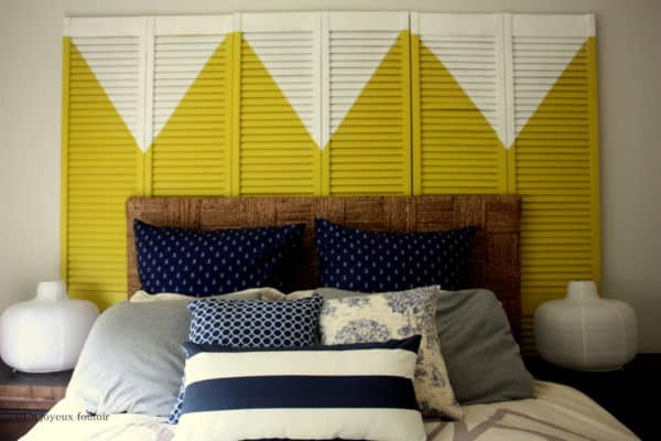 Old Closet Doors to Make a Modern Headboard Do-It-Yourself Ideas