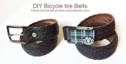 Belt Made Out Of Recycled Bike Tire