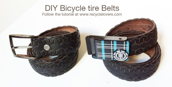 Belt Made Out Of Recycled Bike Tire Accessories Upcycled Bicycle Parts