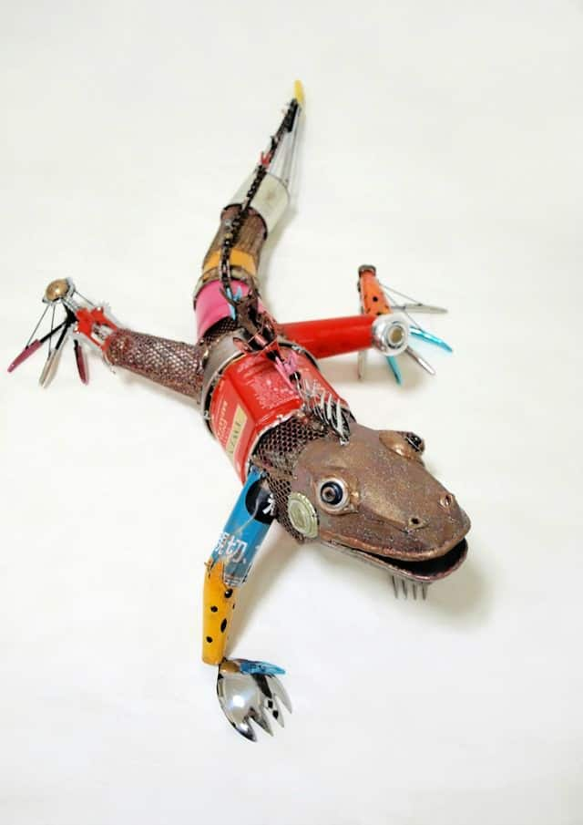 Animal Sculptures Made from Recycled Materials