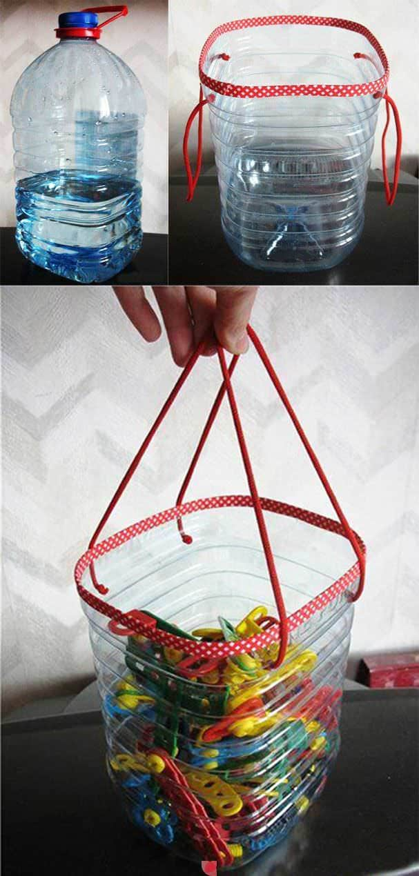 Clothes Pins Bag From Plastic Bottles • Recyclart