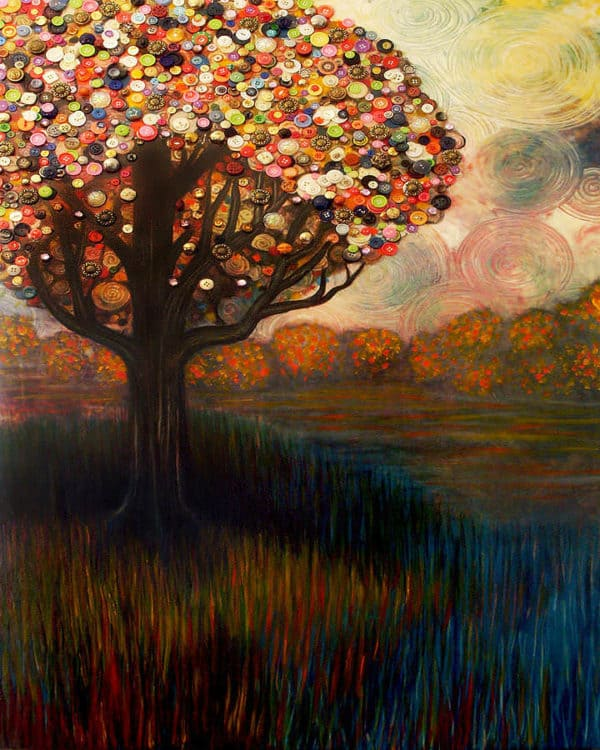Button Trees By Monica Furlow Recyclart