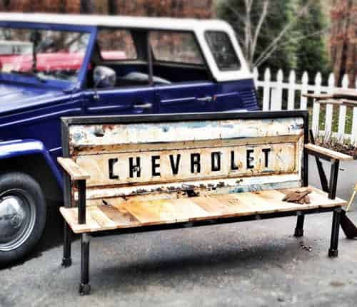 From Vintage Tailgates to Benches Mechanic & Friends Recycled Furniture Recycling Metal