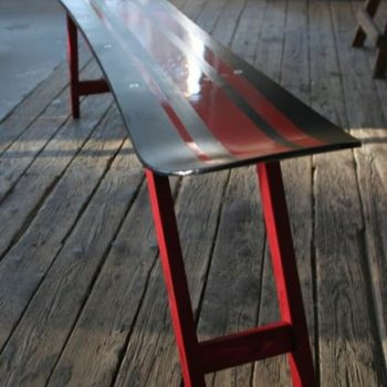 Repurposed Snowboard Into Bench