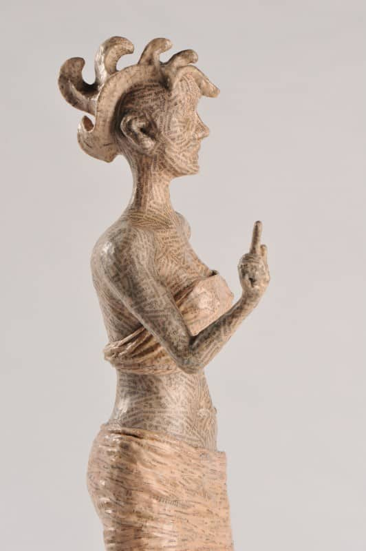 Unah: Papier Mache Sculpture Recycled Art Recycling Paper & Books