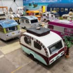 Industrial Space Transformed into Vintage Caravan Hotel