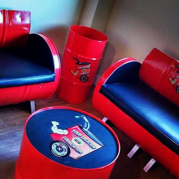 New Ben 10 Childrens Kids Toys Bedroom Storage Seat Stool: 55-gallon Steel Drums Upcycled Into Furniture • Recyclart