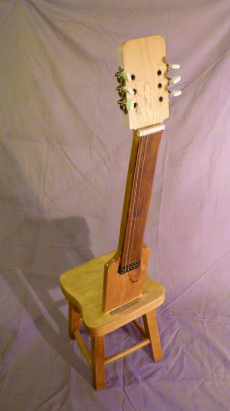 Old Electric Guitar Parts Into Original Chair Recyclart