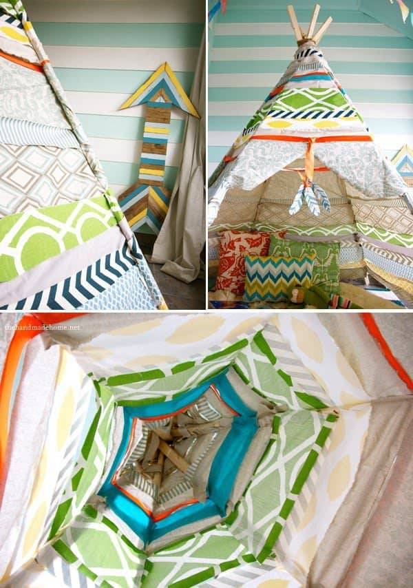 New Ben 10 Childrens Kids Toys Bedroom Storage Seat Stool: Diy: Fabric Teepee (No Sew) • Recyclart