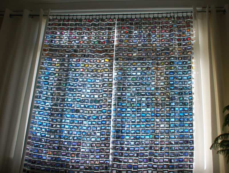 Upcycled 35mm Film Slide Curtains • Recyclart