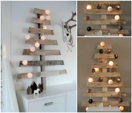 Chic Pallet Christmas Tree