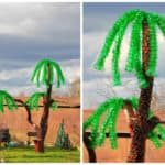 Palm Tree Made from Recycled Plastic Bottles