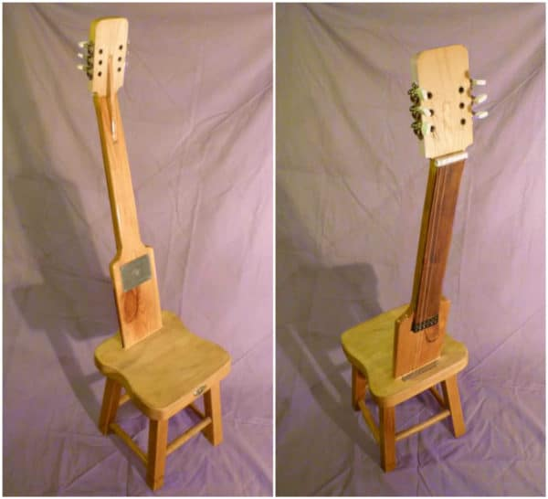 Old Electric Guitar Parts Into Original Chair • Recyclart