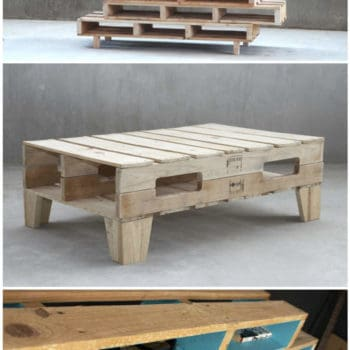 Pallet Shelves & Coffee Table By M&M Designers