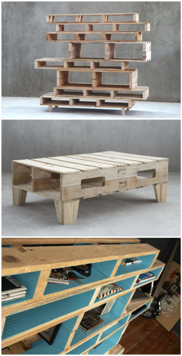 Pallet Shelves & Coffee Table By M&m Designers • Recyclart