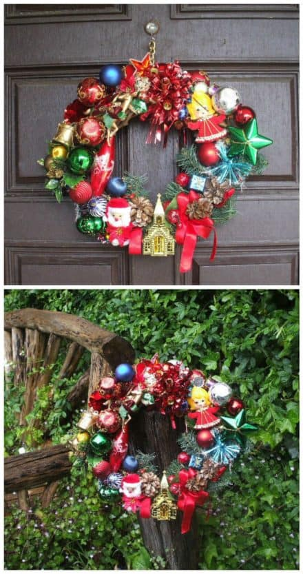 Ollie's Magical Retro Christmas Wreath