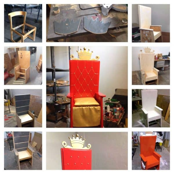 Birthday Throne Recycled Furniture Wood & Organic