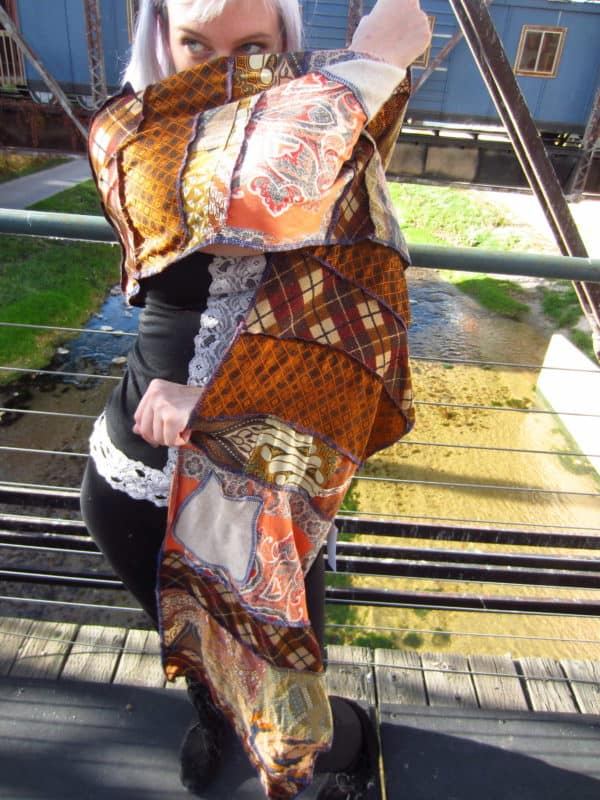 One of a Kind Up-cycled Patchwork Shawls Clothing