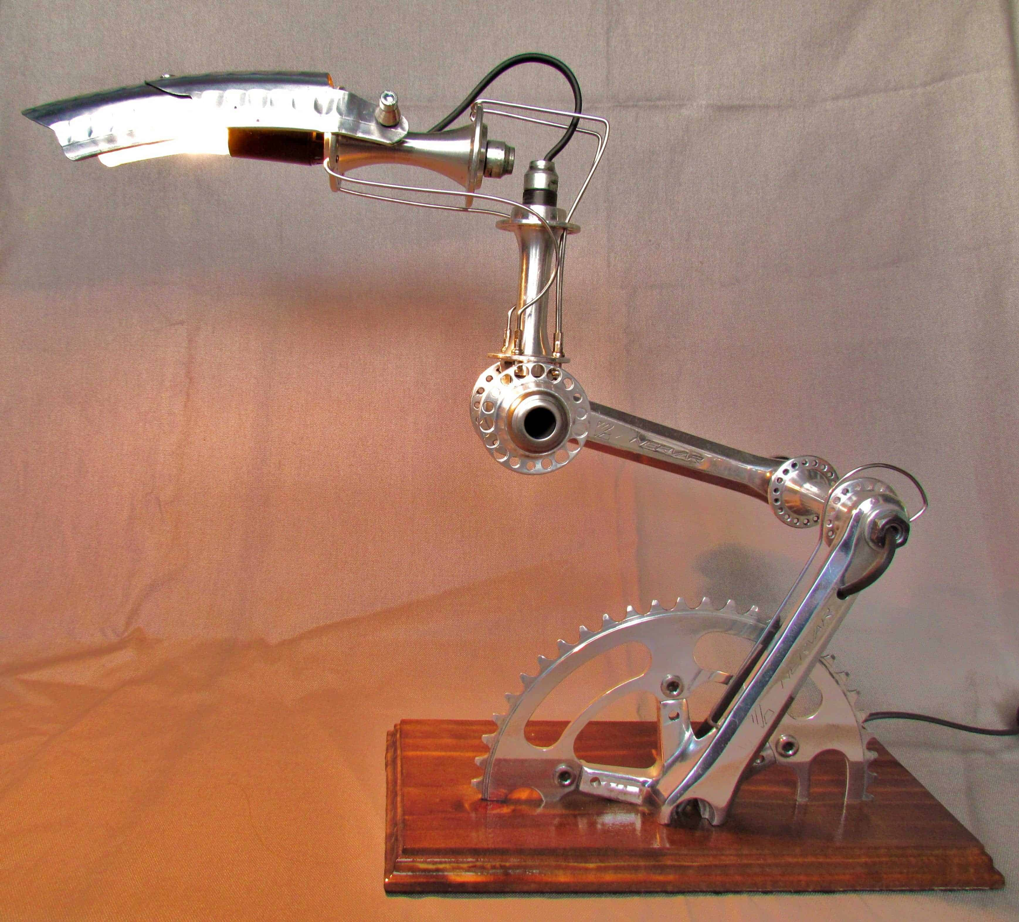 Recycled Bike Part Lamps Velolumiere Recyclart