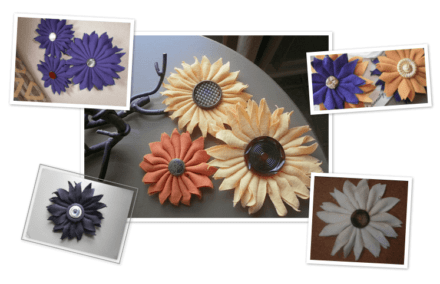 Upcycled T-shirts Flowers