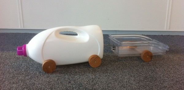 Laundry Detergent-truck with Trailer Do-It-Yourself Ideas Recycled Packaging