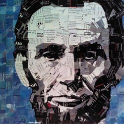 Fine Art From Upcycled Junk Mail Recycled Art Recycling Paper & Books