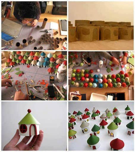 10 christmas craft projects made out of upcycled toilet paper rolls village craft paper roll diy christmas solutioingenieria