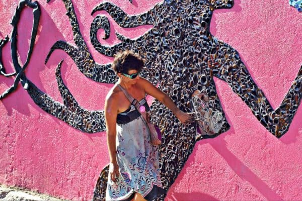 Mural Art for Breast Cancer Awareness Interactive, Happening & Street Art Recycled Art