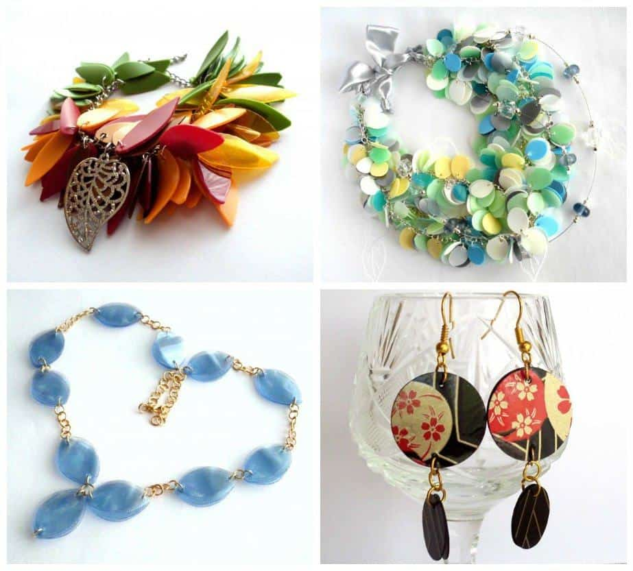 recycled jewelry made of plastic bottles recyclart